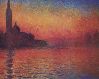 Twilight, Venice by Monet also known as Dusk, or San Giorgio ...